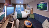 Camarote Superior Exterior con Balcon y Vistas al Mar