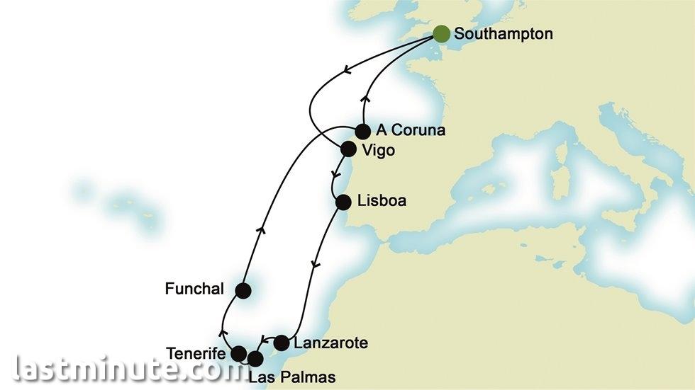 ÎLES CANARIES ET ATLANTIQUE au départ de Southampton