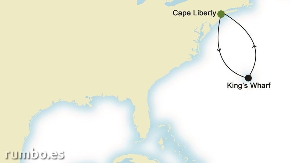 CANADÁ Y ESTADOS UNIDOS desde Cape Liberty