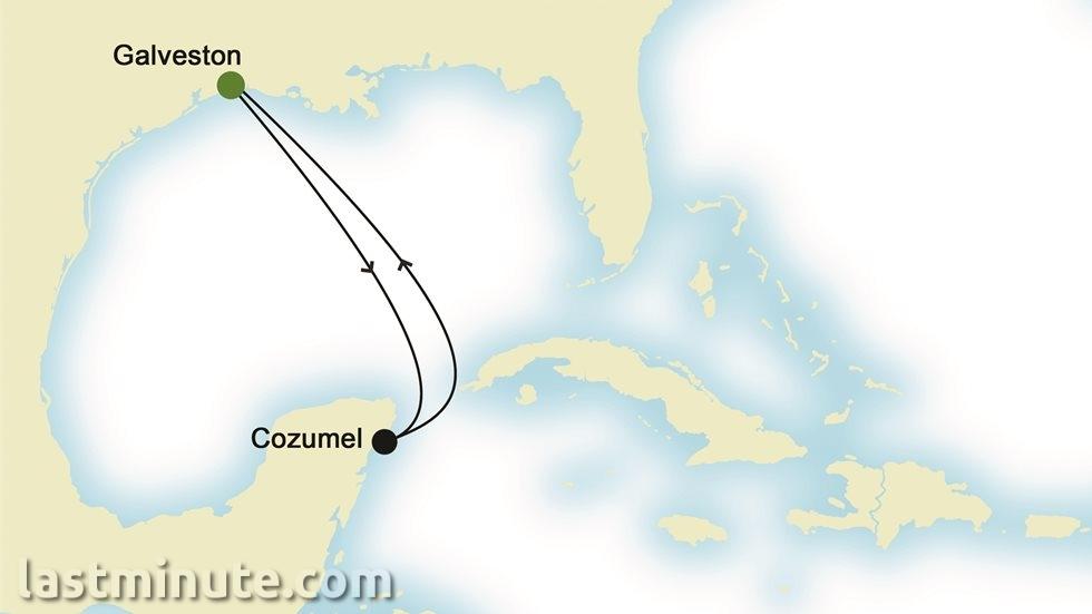 RIVIÈRE MEXICAINE au départ de Galveston