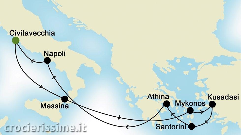 ISOLE GRECHE E MEDITERRANEO ORIENTALE da Civitavecchia