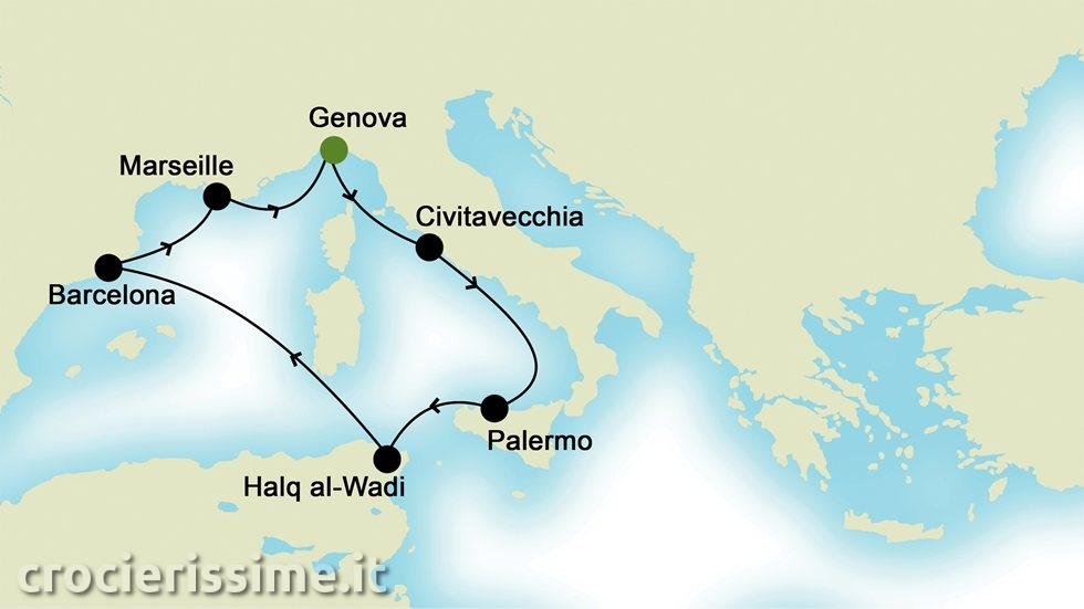 MEDITERRANEO OCCIDENTALE da Genova