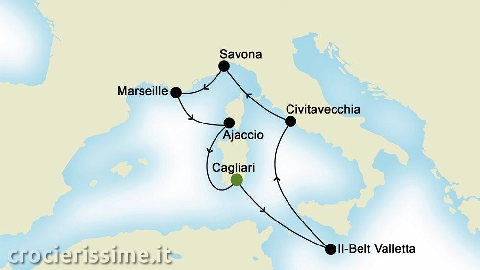 MEDITERRANEO OCCIDENTALE da Cagliari