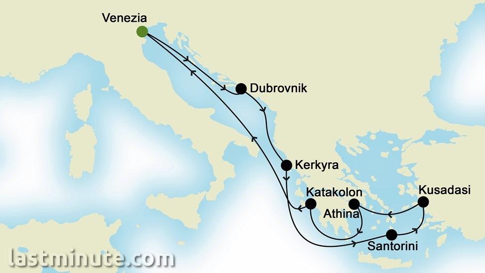 ÎLES GRECQUES ET MÉDITERRANÉE ORIENTALE au départ de Venise