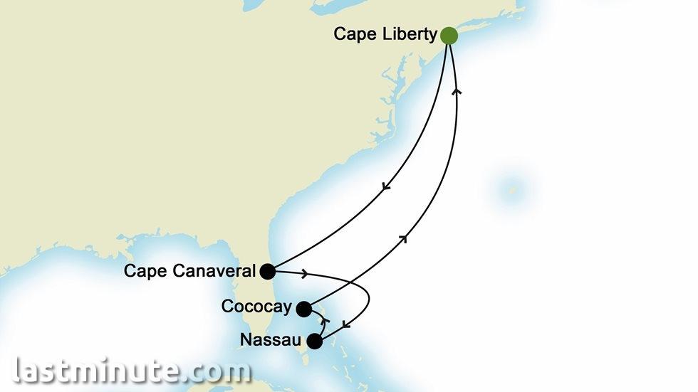 CARAÏBES au départ de Cape Liberty