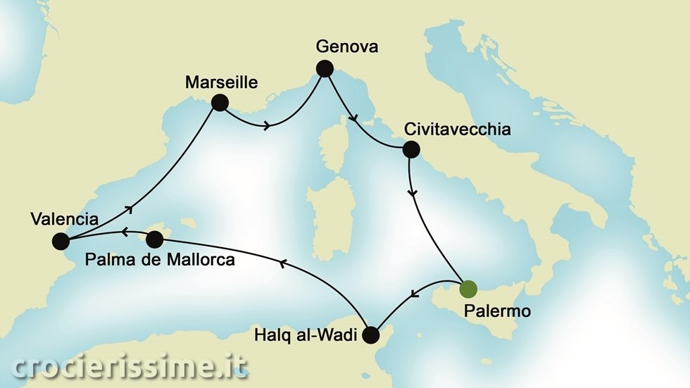 MEDITERRANEO OCCIDENTALE da Palermo