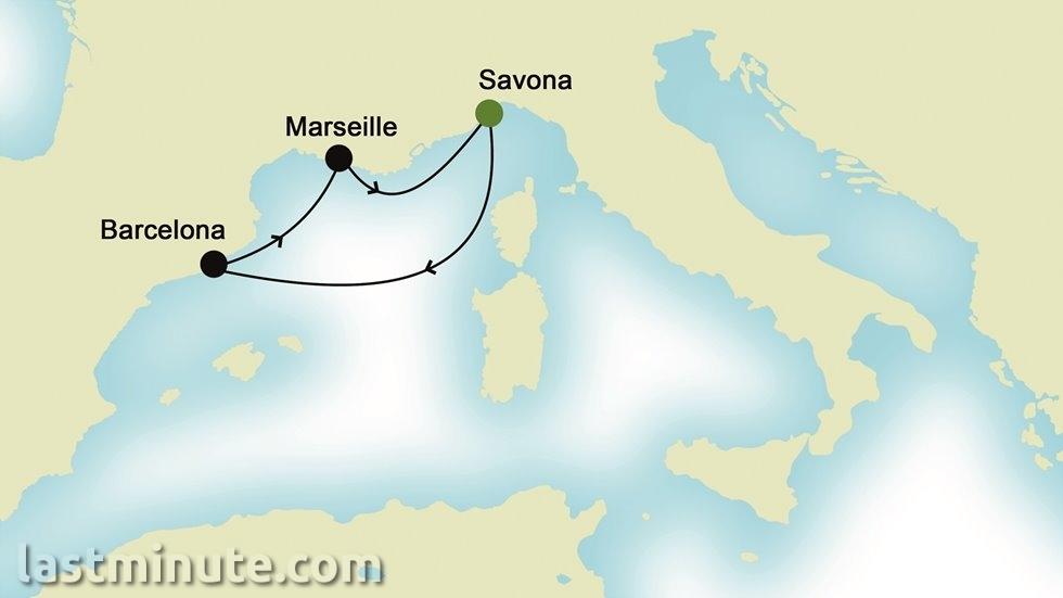 MÉDITERRANÉE OCCIDENTALE au départ de Nice