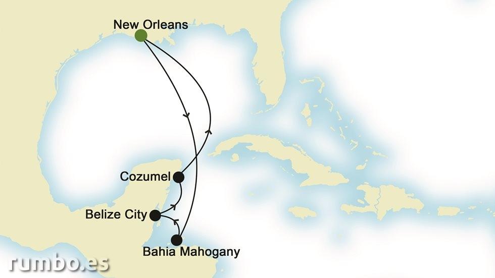 ISLAS DEL  CARIBE desde Nueva Orleans