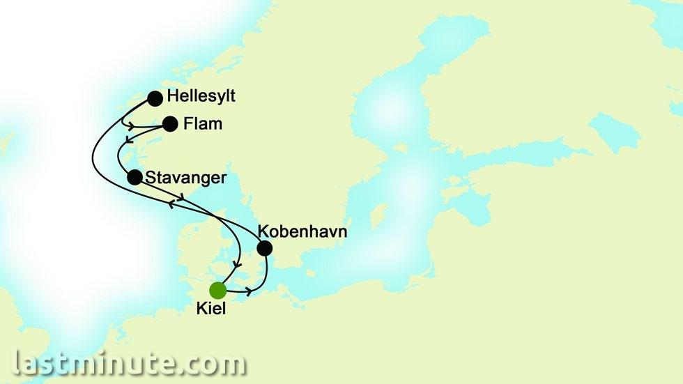 CROISIÈRES FJORDS NORVÉGIENS au départ de Kiel