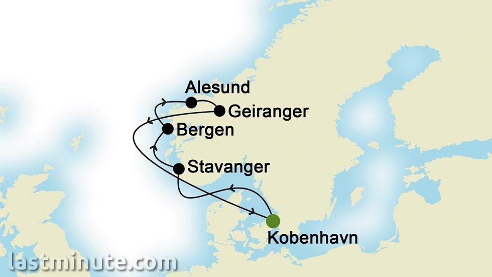 CROISIÈRES FJORDS NORVÉGIENS au départ de Copenhague