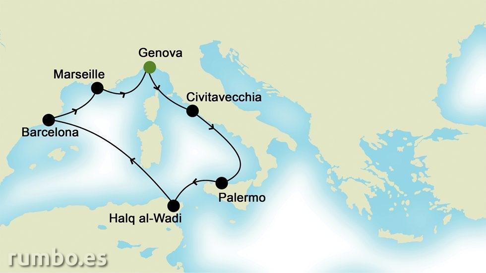 MEDITERRÁNEO OCCIDENTAL desde Génova
